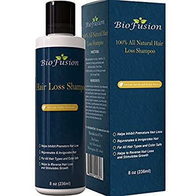 Hair Loss Shampoo for Men & Women - Best Topical Hair Regrowth & Prevention Treatment - Use to Improve Thinning Hair & Anti Hair Loss - For Dry Oily and Damaged Hair - USA Made By Biofusion 8 oz