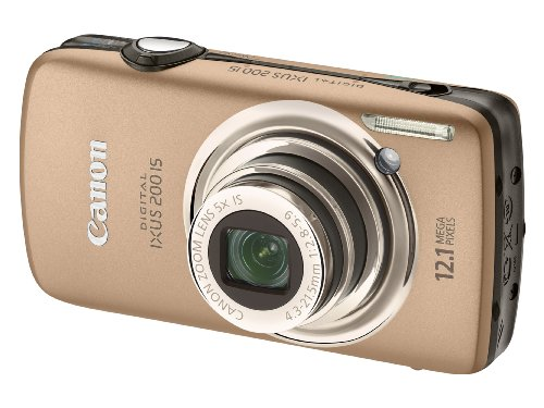 Canon Digital IXUS 200 IS Digital Camera - Brown (12.1 Megapixel, 5x Optical Zoom) 3.0 inch LCD