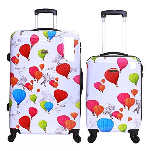 Karabar Dewberry set di 2 valigie rigide, Bianca