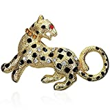 Fashion Alloy Leopard Tiger Zodiac Sign Multicolor Brooch