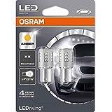 OSRAM PY21W LED LEDriving STANDARD 581 Amber Bulbs 7457YE-02B (Twin Pack) (Color: Amber, Tamaño: PY21W)