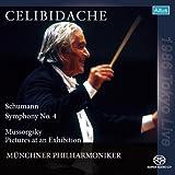 シューマン : 交響曲 第4番 他 (Schumann : Symphony No.4, Mussorgsky : Pictures at an Exhibition / Celibidache, Munchner Philharmoniker) [SACD シングルレイヤー]