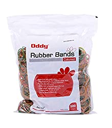 Oddy Colored Maximum Stretch Rubber Bands 1 1/2