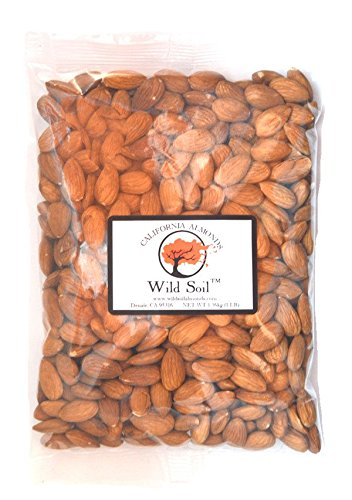 Wild Soil Almonds - Distinct and Superior to Organic, Steam Pasteurized, Raw 1LB Bag (Almonds Steam compare prices)