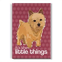 Norwich Terrier Dog Fridge Magnet - It's The Little Things
