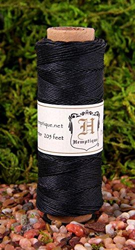 Hemp Cord Spool 10# 205 Feet/Pkg-Black (Hemp Wire compare prices)