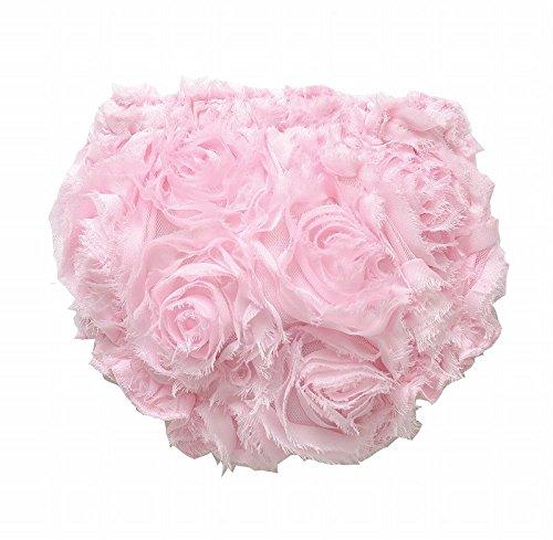 Mud Pie Baby-Girls Newborn Chiffon Rosette Bloomer, Pink, 0-6 Months front-1079060