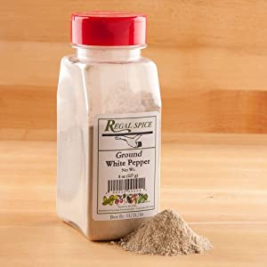 Regal Herbs, Spices, Seasoning 8 ounce (Fine Ground White Pepper)