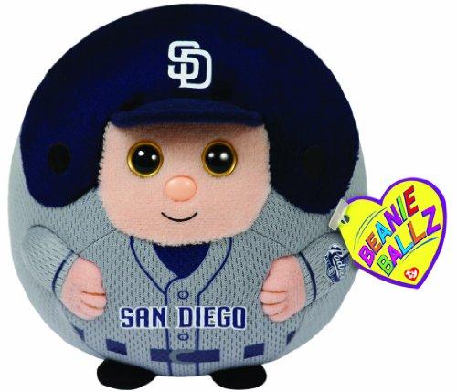 Ty Beanie Ballz Mlb San Diego Padres Plush front-605397