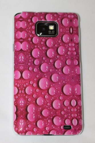 Hardcase Schutzhülle SAMSUNG GALAXY S2 i9100 - rosa/pink - TROPFEN MUSTER - NEU -