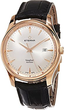 Eterna Heritage Vaughan Men's Swiss Automatic Rose Gold Watch 7650.69.11.1185