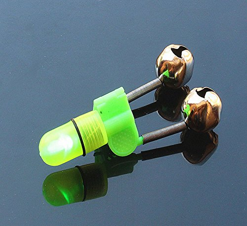 Yygift set of 20 led twin bells fishing tackle night sea for Fishing rod bells