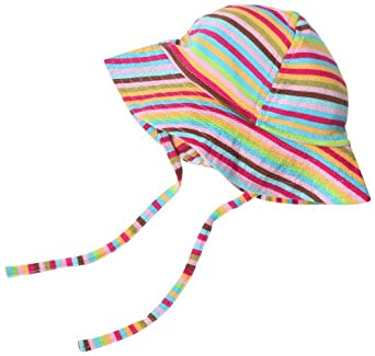 Super Stripe Sun Hat by Zutano - Multi-colored - 0-6 Mths