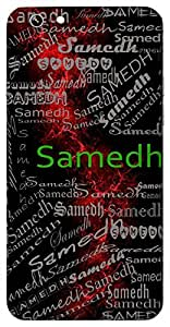 Samedh (Full Of Strength) Name & Sign Printed All over customize & Personalized!! Protective back cover for your Smart Phone : Samsung Galaxy Note-4