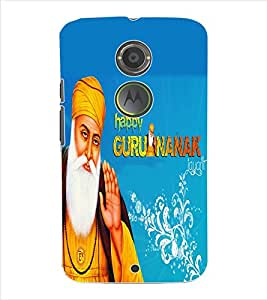 ColourCraft Lord Guru Nanak Back Case Cover for MOTOROLA MOTO X2