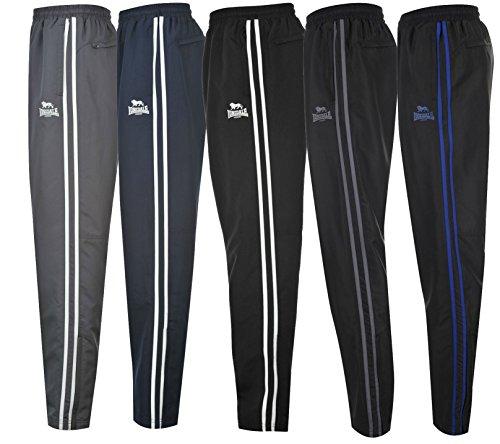 Lonsdale-Pantaloni da Jogging, con motivo a righe, confezione da 2, motivo: tempo libero/Pantaloni sportivi, taglie: S, M, L, XL, XXL, XXXL, XXXXL (simili agli Puma/3 strisce adidas Design)