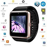 Smart Watch,[U.S. Warranty]JoyGeek All-in-1 Bluetooth Watch Wrist Watch Phone with SIM Card Slot and NFC for IOS Apple iPhone,Android Samsung HTC Sony LG Smartphones(Gold)