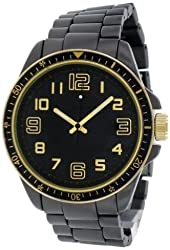 FMD Black Stainless Steel Gold Accented Mens Watch FMDM251