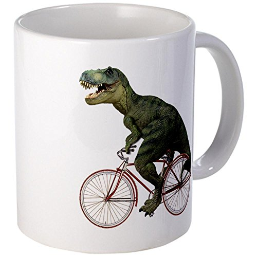 Cafepress Cycling Tyrannosaurus Rex Mug - S White