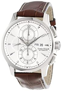 Louis Erard Men's 78220AA01.BDCL50 1931 Stainless Steel and Brown Leather Automatic Watch
