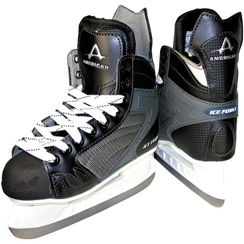 American Athletic Shoe Men's Ice Force Hockey Skates, Black, 13 (Ice Skate Shoes Men compare prices)