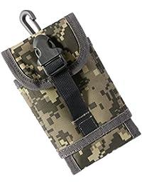 Magideal Military Waterproof Waist Pack PUrse Mini Outdoor Sport Bag Grey Camouflage
