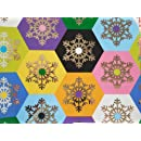 The Gift Wrap Company Holiday Wrapping Paper, 37.5 Square Feet Flat Wrap, French Bull Honeycomb Flake