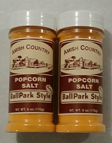 Amish Country Ballpark Butter Popcorn Salt 2/6 Ounce Shakers Total 12 Ounces (Amish Popcorn Butter compare prices)