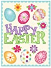 """Classic Easter Clings 12"""" x 17"""" Reusable Vinyl Static Window Cling Cutouts – Happy Easter…"""