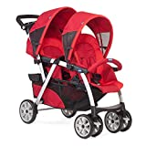 Chicco Travel System Twin Stroller Together Red with Keyfit car seats