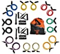 Body-Bands Resistance Tubing Band Set #7, with Reinforced D End Connectors (Set of 16 Bands)