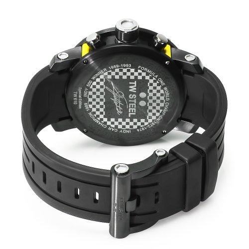 Imagen de Hombres de acero TW TW610 Emerson Fittipaldi Caucho Edición Negro Cronógrafo esfera de un reloj