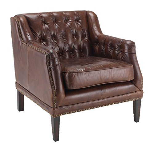 East West at Home TK8829-1D  Vintage Leather Chair, 74 x 77 x 80 cm
