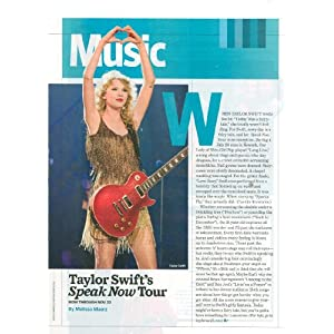 Taylor Swift Tour 2011 on Amazon Com  2011 Clipping Musician Taylor Swift Speak Now Tour