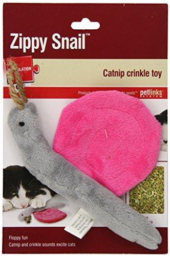 Petlinks Zippy Snail Cat Toy Catnip Crinkle Toy