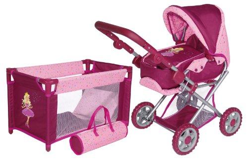 Imagen 1 de Bayer Design 13996S - Set de cuna y cochecito de paseo para muñecas