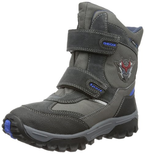 Geox J LT HIMALAYA WP A Snow Boots Boys Gray Grau (GREY/ROYAL C0069) Size: 30