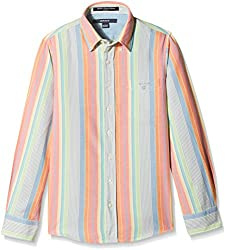 Gant Boys Shirt (GBSHF0017_Pink And White_11 - 12 years)