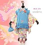 芦田愛菜(あしだまな)ブランド被布セット「水色×オフホワイト 幸せの小鳥」