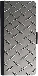 Snoogg Grey Steeldesigner Protective Flip Case Cover For Sony Xperia Z2