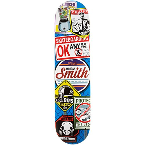 Blind Morgan Smith Warnings Resin-8 Deck Blue Width:7.75
