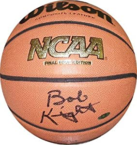 Bobby Knight signed NCAA Final Four Indoor Outdoor Gold Logo Basketball (Indiana... by Athlon+Sports+Collectibles