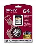 PNY Elite Performance 64GB UHS-1 SDXC Flash Card (P-SDX64U1H-GE)