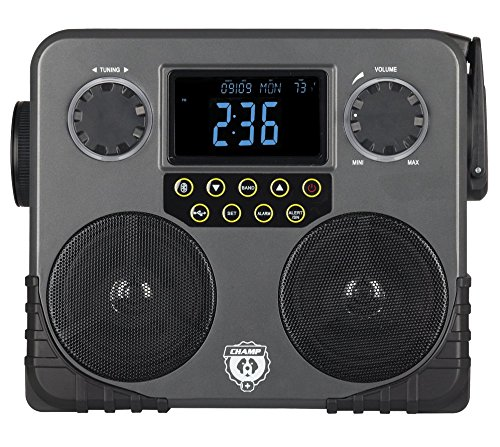 CHAMP Bluetooth Survival Solar Multi-Function Skybox with Emergency AM/FM NOAA Weather Radio (RCEP600WR)