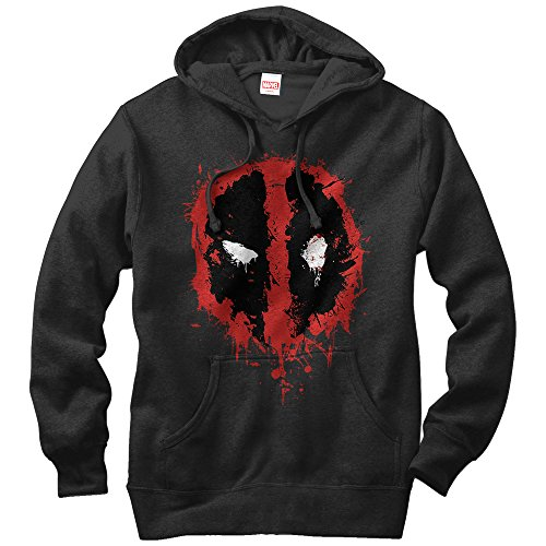 Marvel Deadpool Splatter Icon Mens Graphic Lightweight Hoodie