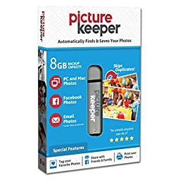 Picture Keeper Portable Flash Drive Photo Backup USB Drive 8GB