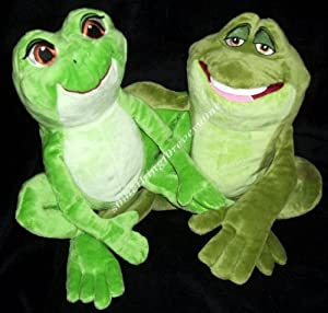 "Store the Princess and the Frog 12"" Plush Tiana and Naveen As Frog Set"