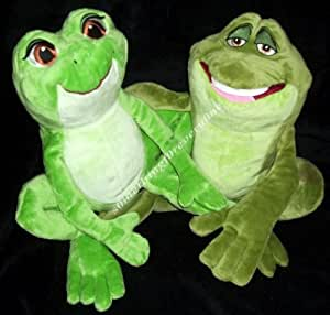 "and the Frog 12"" Plush Tiana and Naveen As Frog Set: Toys & Games"