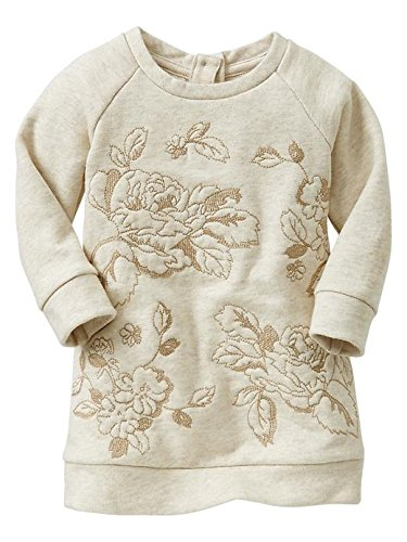 Gap Baby Embroidered Floral Sweatshirt Dress Size 3-6 M front-899888
