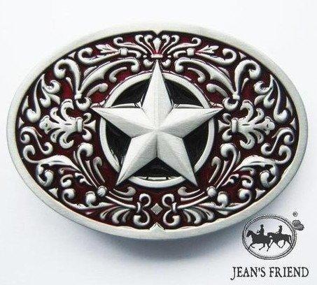 belt new rare buckles men western cowboys cool vintage lone star red silver ornate